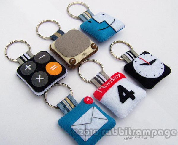 iPhone App Icon Styled Felt Keychain