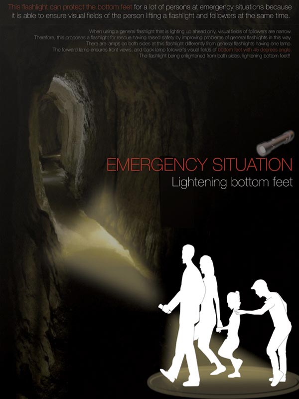 Junwon Yang's Emergency Flashlight with Double Illumination
