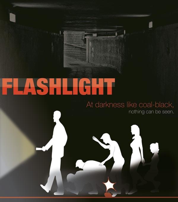Junwon Yang's Emergency Flashlight with Double Illumination