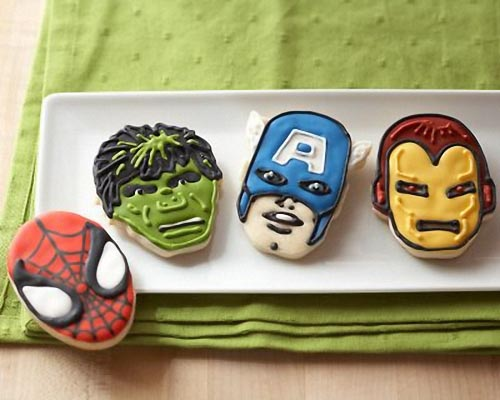 Marvel Superhero Themed Cookie Cutter Set