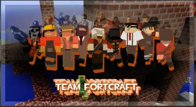 Minecraft Styled Team Fortress 2