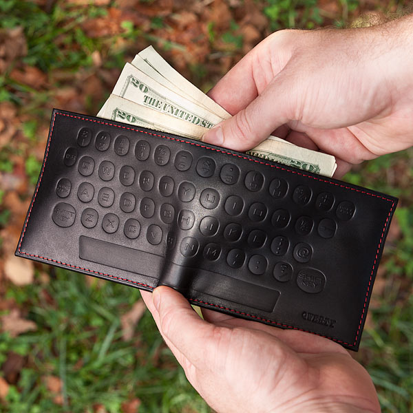 QWERTY Keyboard Styled Premium Leather Wallet