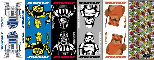 Star Wars Themed Face Towel Set