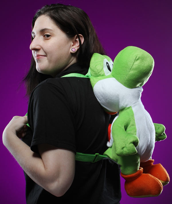 Super Mario and Yoshi Plush Backpacks