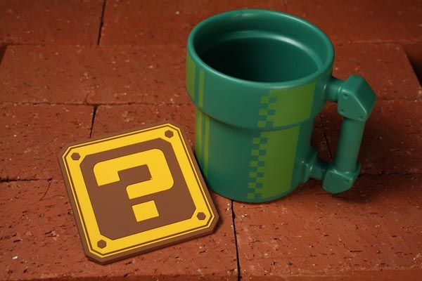 Super Mario Themed Pipe Mug with Matching Coaster