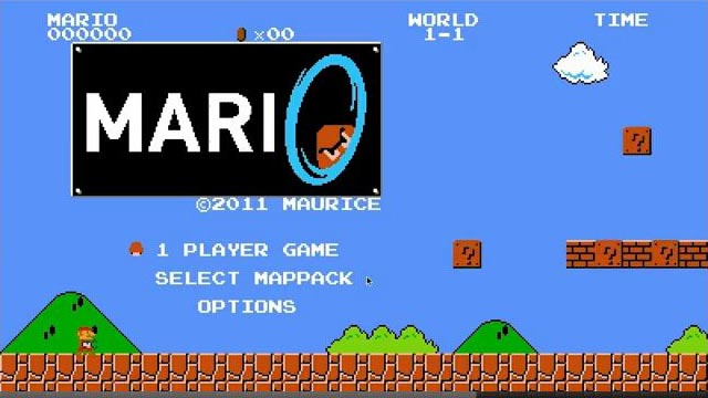 Super Mario with Portal Gun