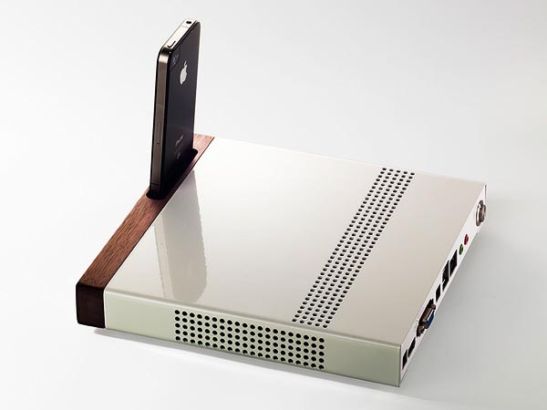 Super Slim PC with iPhone Dock