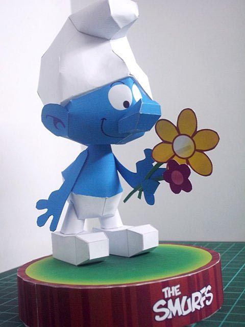 The Smurfs Themed Paper Craft