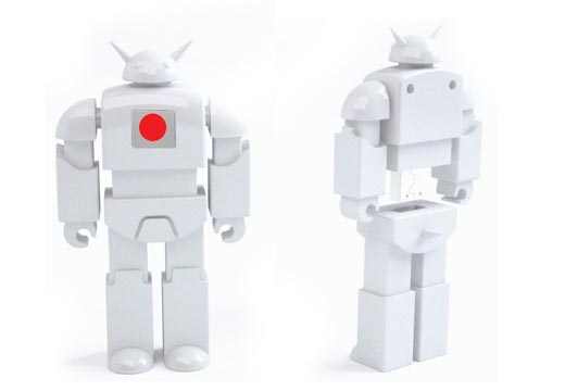 White Voltron and Nekobot USB Flash Drives for Japanese Tsunami Relief