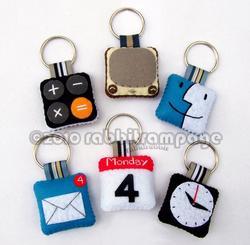 iPhone App Icon Styled Felt Keychain