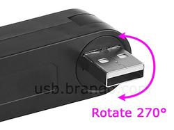 Rotatable Rota-Rota 3-Port USB Hub