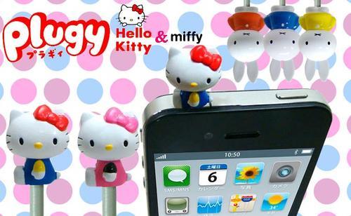 Hello Kitty and Miffy Plugy Headphone Jack Prorectors
