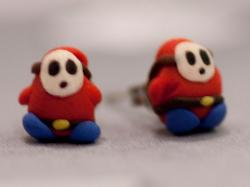 Super Mario Themed Earrings