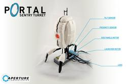 Workable LEGO Portal Sentry Turret