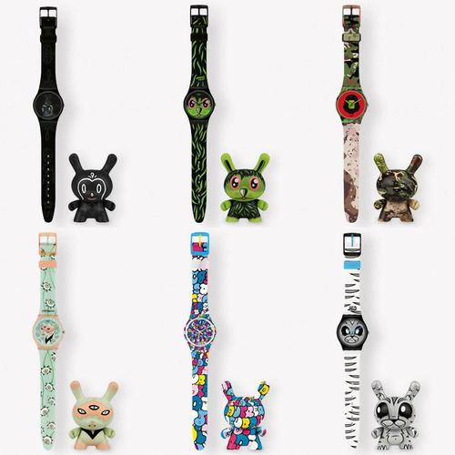 Kidrobot Swatch Watch and Matching Dunny