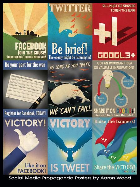 Social Network Themed Propaganda Posters Gadgetsin