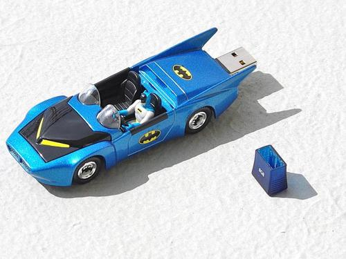 Recyled 1980s Corgi Batmobile USB Flash