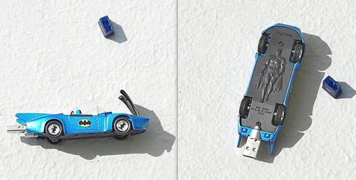 Recyled 1980s Corgi Batmobile USB Flash Drive