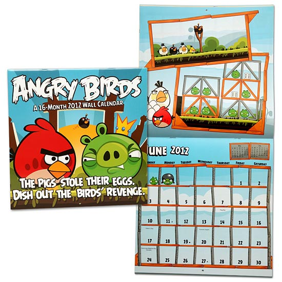 Angry Birds Themed 2012 Calendar | Gadgetsin