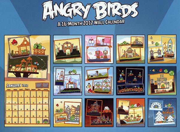 Angry Birds Themed 2012 Calendar