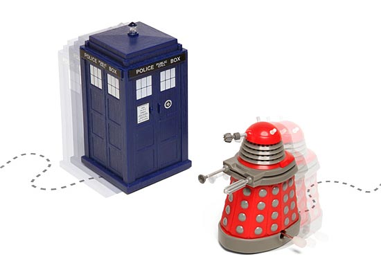 Doctor Who TARDIS and Dalek Wind-Ups