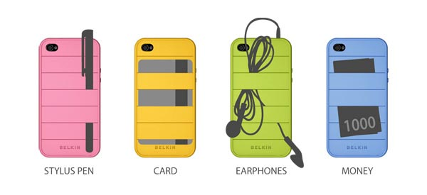 Elasty iPhone 4 Case with Multi Functional Elastic Bands
