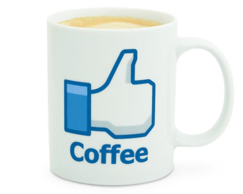 Facebook Like Button Coffee Mug