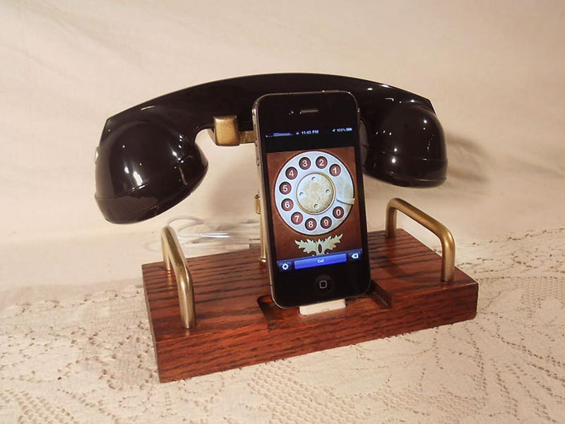 Retro bluetooth handset for iphone
