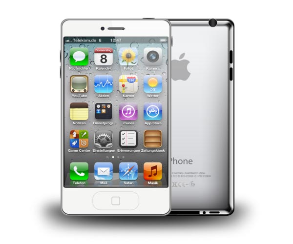 iPhone 5 Design Concept with Smart Cover