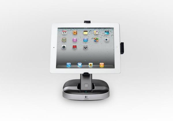 logitech speaker stand for original ipad and ipad 2 gadgetsin. Black Bedroom Furniture Sets. Home Design Ideas