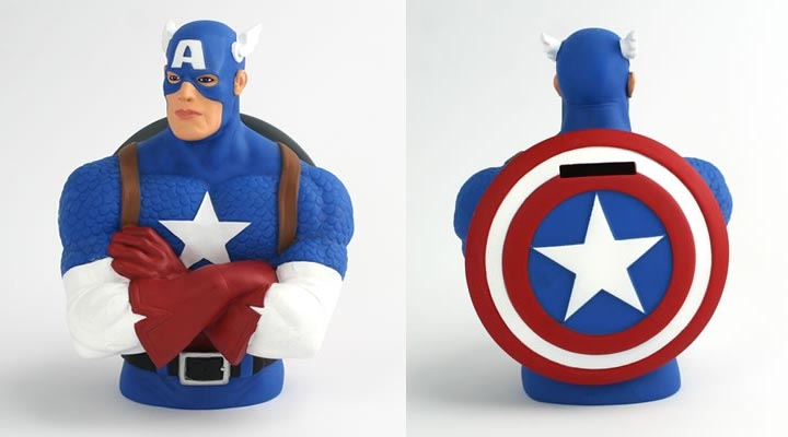 Marvel Superhero Bust Styled Money Bank