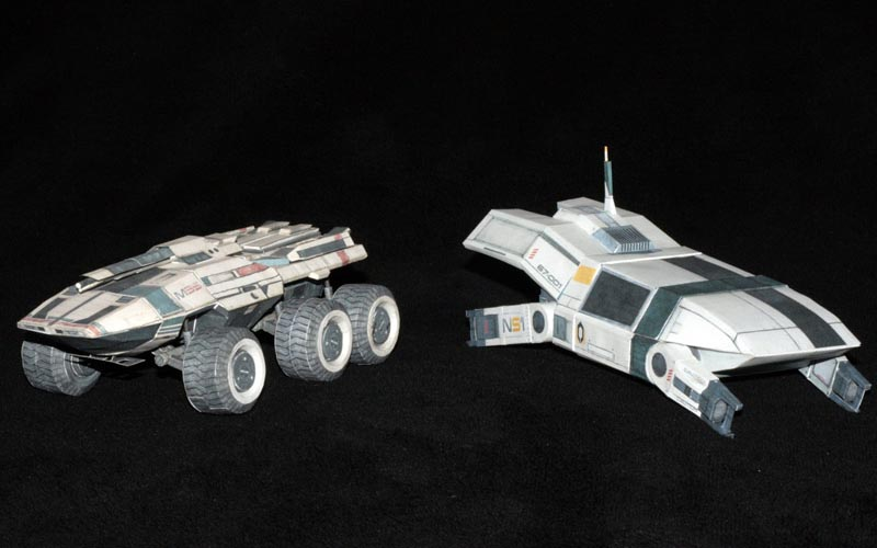 Mass Effect M35 Mako and UT-47 Kodiak Drop Shuttle Paper Crafts
