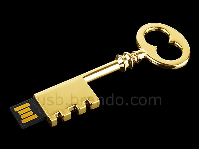 Metallic Skeleton Key USB Flash Drive