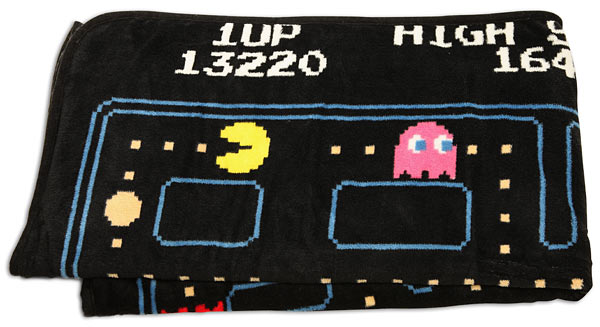 Pacman Themed Fleece Blanket