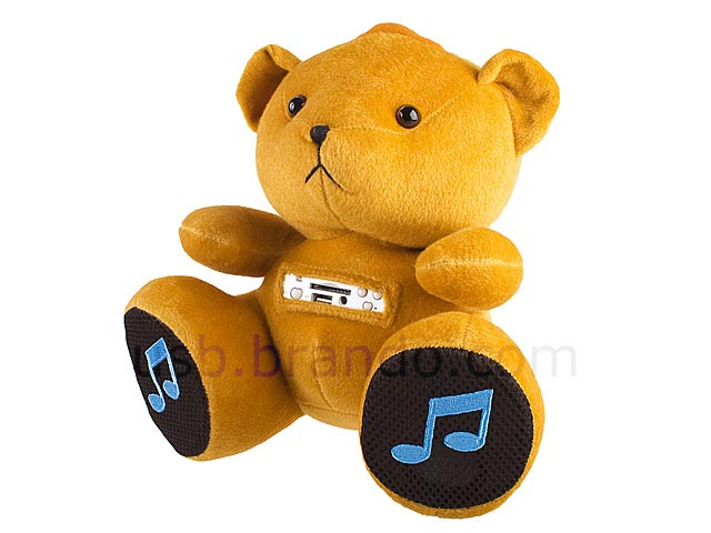 Plush Portable Speaker with MP3 Player and FM Radio