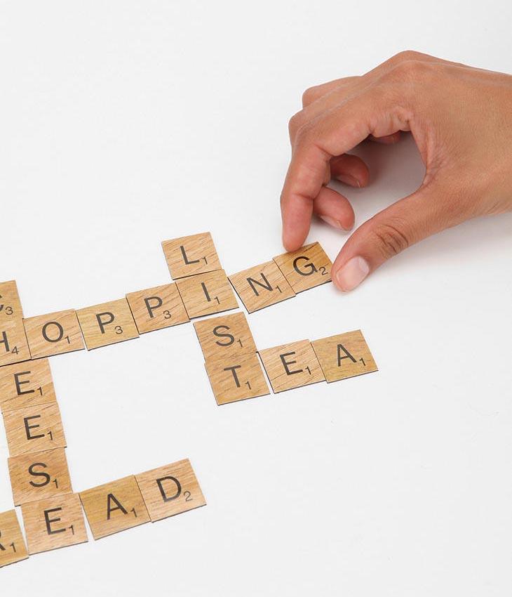 Scrabble Fridge Magnet Set