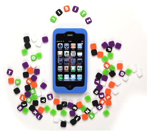 Snugg Jibitz iPhone 4 Case with 26 Alphabet Tiles