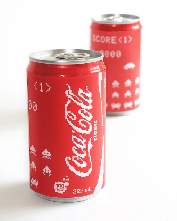 Space Invaders Inspired Coca-Cola Cans