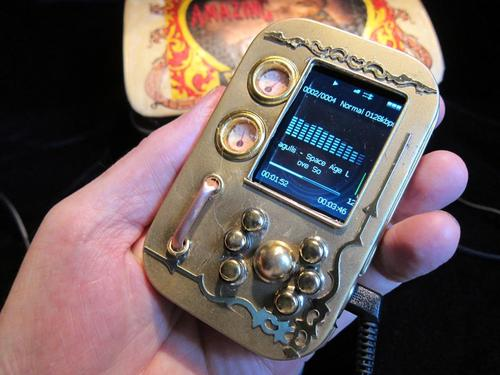 Handmade Steampunk MP3 Player