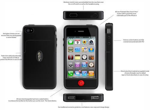 IvySkin Quattro4 Wrangler iPhone 4 Case