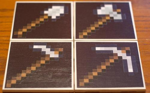 Minecraft Tools Coaster Set