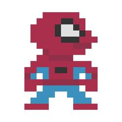 Pixel Art Inspired by Pop Culture Characters