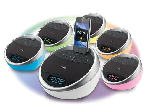 iHome iA17 App-Enhanced Color Changing Dock Speaker with Alarm Clock and FM Radio