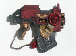 Space Marine's Bolt Pistol from Warhammer 40K