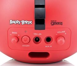 Red and Black Angry Birds Portable Speakers and iPhone Docks