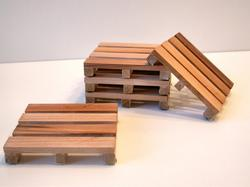 Wooden Pallet Styled Coaster Set