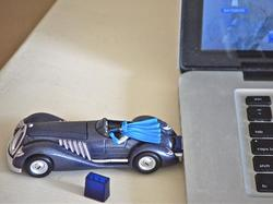 1940's Batmobile USB Flash Drive with Batman Mini Figure