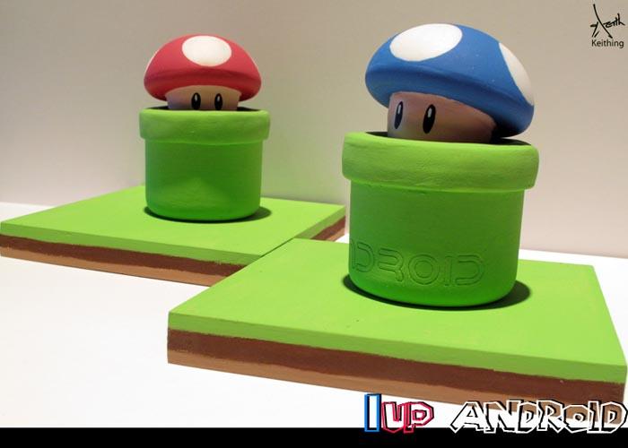 1UP Mushroom Android Mini Figure