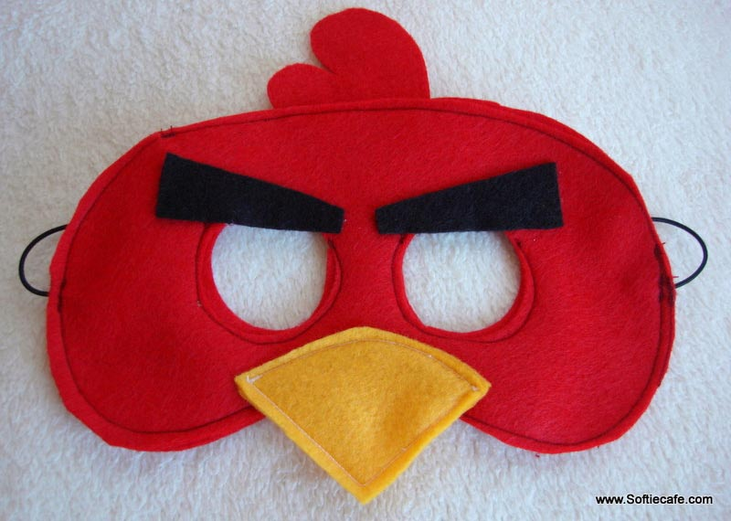 As an angry bird or green pig the angry birds felt mask s should be