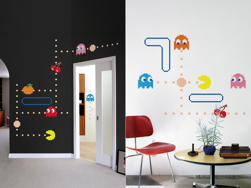 Delightful Blik Pac Man Lives Wall Decal Series